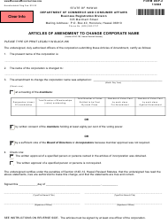 """Form DNP-2 """"Articles of Amendment to Change Corporate Name"""" - Hawaii"""