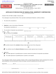 """Form DNP-8 """"Articles of Revocation of Dissolution, Nonprofit Corporation"""" - Hawaii"""
