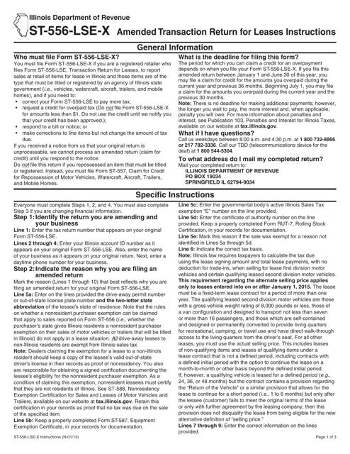 Form ST-556-LSE-X  Fillable Pdf