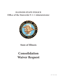 "Form ISP7-304 ""Consolidation Waiver Request"" - Illinois"
