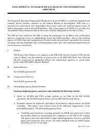 "Form ISP2-668 ""Iafis-Approval to Search Fbi Database by Non-isp Personnel Addendum"" - Illinois"
