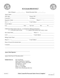 Form ISP 2-593 Icn Circuit Disconnect - Illinois