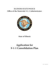 "Form ISP7-302 ""Application for 9-1-1 Consolidation Plan"" - Illinois"