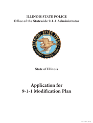 "Form ISP7-310 ""Application for 9-1-1 Modification Plan"" - Illinois"