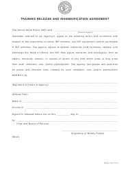 "Form ISP6-719 ""Training Release and Indemnification Agreement"" - Illinois"