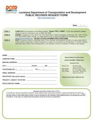 """""""Public Records Request Form"""" - Louisiana"""