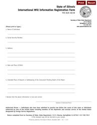 Form I 217 International Will Information Registration Form - Illinois