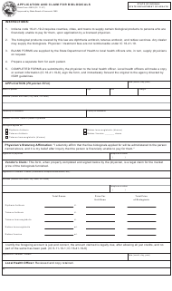 State Form 43918 Application and Claim for Biologicals - Indiana