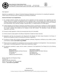 "Form MO580-3013 ""Business Application for a Missouri Controlled Substances Registration"" - Missouri"