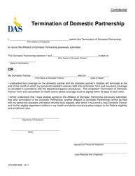 Form CFN 552-0695 Termination of Domestic Partnership - Iowa