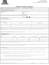 """""""Planned Purchase Request Form"""" - Mississippi"""