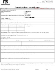 """Competitive Procurement Request Form"" - Mississippi"
