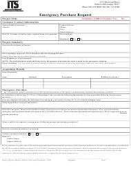 """""""Emergency Purchase Request Form"""" - Mississippi"""