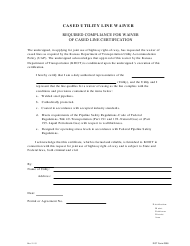 "DOT Form 0308 ""Cased Utility Line Waiver"" - Kansas"