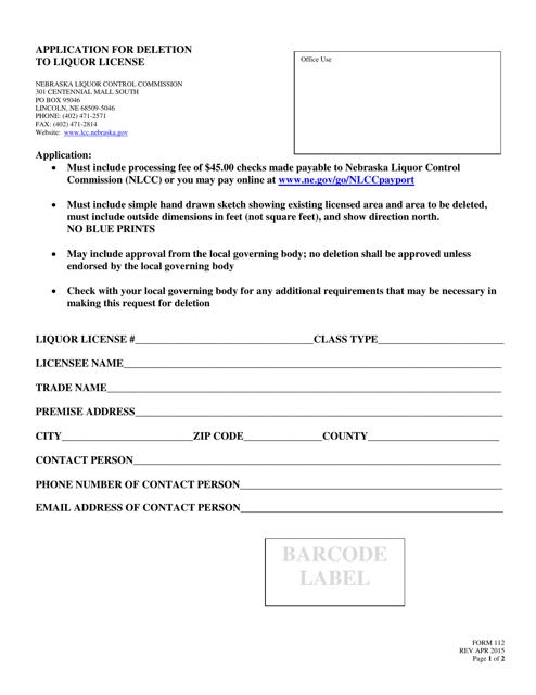 Form 112 Fillable Pdf
