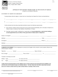 "Form IC-5 ""Affidavit for Export From Guam to the State of Hawaii"" - Hawaii"