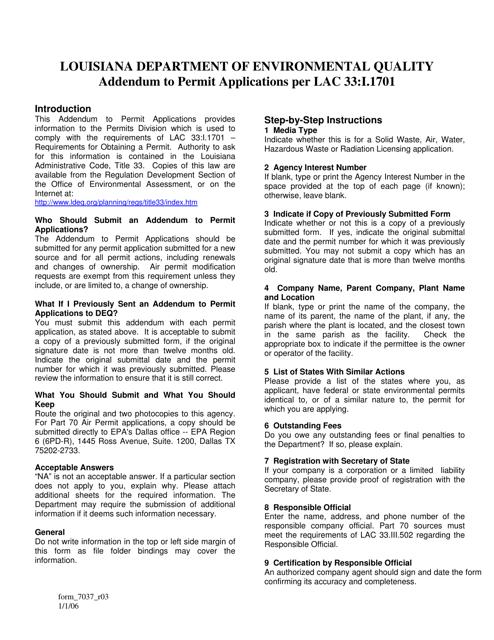 Form 7037  Printable Pdf