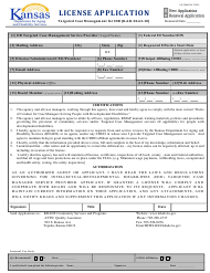 "Form AP-2204 ""License Application"" - Kansas"