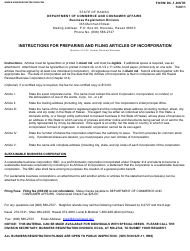 "Instructions for Form DC-1 ""Articles of Incorporation"" - Hawaii"