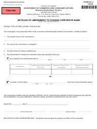 """Form DC-2 """"Articles of Amendment to Change Corporate Name"""" - Hawaii"""