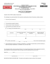 """Form DC-3 """"Articles of Amendment"""" - Hawaii"""