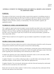 """Instructions for Form CD-48 """"General Consent to Termination of Parental Rights and Consent to Adoption Form"""" - Missouri"""