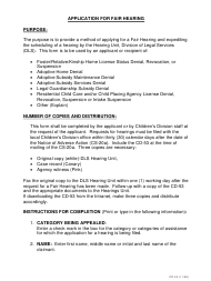 """Instructions for Form CD-53 """"Application for Fair Hearing"""" - Missouri"""
