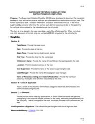 "Instructions for Form CD-86 ""Supervised Visitation Checklist Form"" - Missouri"