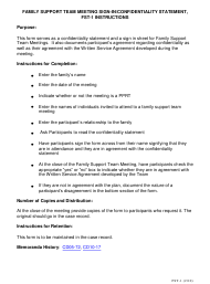 Instructions for Form Fst-1 - Family Support Team Meeting Sign-In/Confidentiality Statement