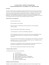 Instructions for Form Fst-2 - 72 Hour Family Support Team Meeting Sign-In/Confidentiality Statement