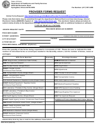 "Form HFS1517 ""Provider Forms Request"" - Illinois"