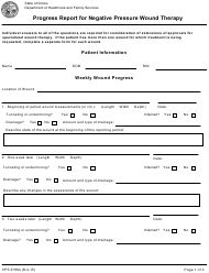 Form HFS 3785A Progress Report for Negative Pressure Wound Therapy - Illinois