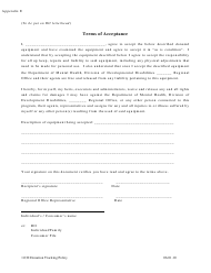 "Appendix E ""Donation Tracking - Terms of Acceptance"" - Missouri"