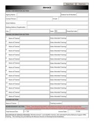 """Pbs Participant Invoice Form"" - Missouri"