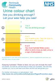 """Urine Color Chart - Peninsula Community Health"""