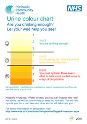 Urine Color Chart - Peninsula Community Health