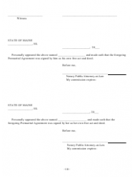 """Prenuptial Agreement Template"" - Maine, Page 10"