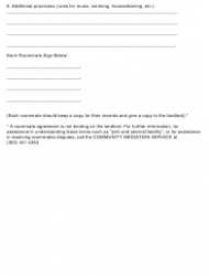 """Roommate Agreement Template"", Page 3"