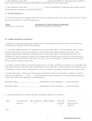 Roommate Agreement Template - Missouri, Page 3