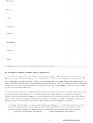 Roommate Agreement Template - Missouri, Page 4