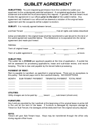 """Sublet Agreement Template"""