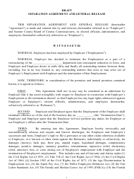 """Separation Agreement and General Release Form"" - Sumter County, Florida"