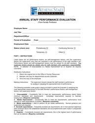 Annual Staff Performance Evaluation Form - Athens State University - Alabama