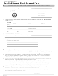 """Certified Record Check Request Form"" - Kansas"