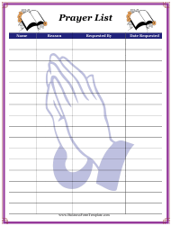 """Prayer List Template"""