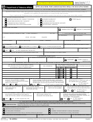 VA Form 10-2850c Application for Associated Health Occupations