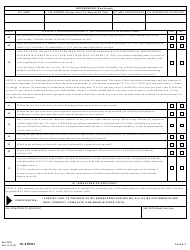 VA Form 10-2850c Application for Associated Health Occupations, Page 3