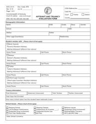 """Form AOC-JV-41 """"Affidavit and Truancy Evaluation Form"""" - Kentucky"""