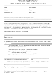 "Form HIPPA-F-9 ""Request to Inspect or Receive a Copy of Protected Health Information"" - Massachusetts"