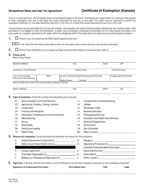 Form PR-78SSTA  Printable Pdf